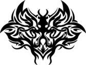 Siyah-beyaz dövme deseni — Stok Vektör