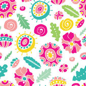 Seamless floral background — Vecteur