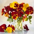 Stock Photo: Bouquet flowering pansy