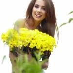 mujer de verano hermoso — Foto de Stock