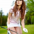 Pretty womgolfer — Stock Photo #6252734