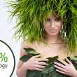 Ecology woman, green concept — Stock fotografie #6345927