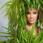Ecology woman, green concept — Stock Photo