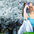 Young Woman Resting After fitness - Stock Photo