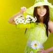 Beautiful spring woman portrait. green concept — Stock Photo #6511134