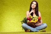 Groenten en fruit winkelen — Stockfoto