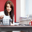 Stock Photo: Woman in the office