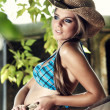 Sexy woman with cowboy hat — Stock Photo #6634666
