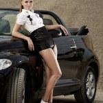 Fashion  vintage woman with cabrio car — Stock Photo #6672521