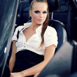 Young sexy woman with car — Stock Photo #6672758