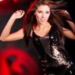 Portrait of a beautiful dancing girl — Stock Photo