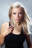 Portrait of a beautiful blonde woman. — Stock Photo
