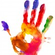 Colored hand print. — Stock Photo
