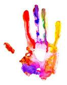 Colored hand print. — Stock Photo