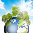 Royalty-Free Stock Photo: Green Earth.