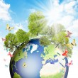 Green Earth. - Stock Photo