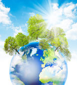 Green Earth. — Stock Photo