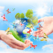 Concept of heritage earth for future generations — Stock Photo