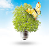 Green energy concept - save green planet — Stock Photo