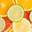 Mixed citrus fruit — Stock Photo #6402815