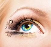 化了妆的美丽眼睛 — 图库照片