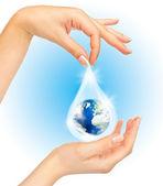 O símbolo de salvar o planeta — Foto Stock