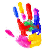 Сolored hand print — Stock Photo