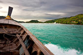 View from a moving boat — Stock Photo