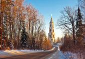 Puesta de sol hermosa del invierno — Foto de Stock