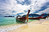 Boats in the tropical sea. Thailand — Stock fotografie