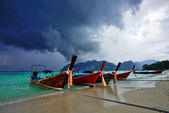 Boats in the tropical sea. Thailand — ストック写真