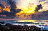 Coucher de soleil coloré — Photo