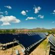 Solar panels in Utah under blue sky — Stock Photo