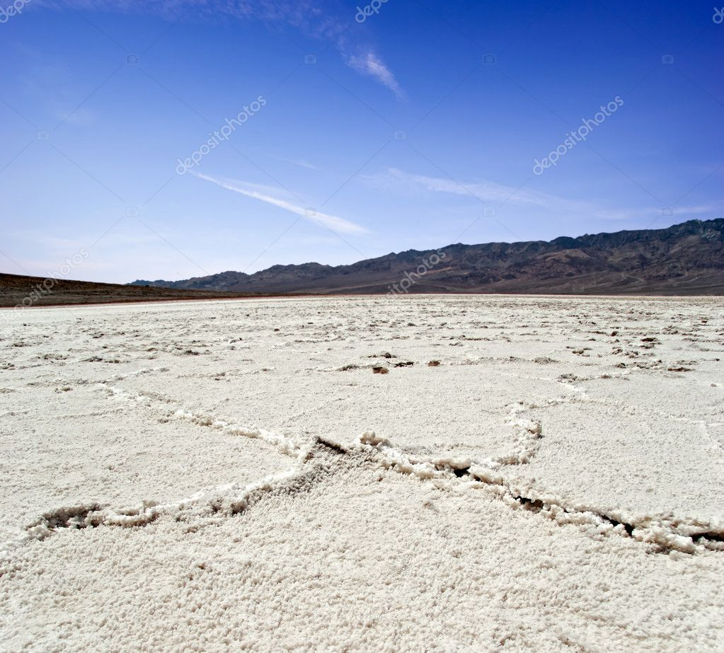 Lifeless landscape of the Death Valley. California. USA  — Stock Photo #6434628