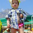 Baby on the beach — Stock Photo #5987073