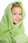 Girl in bath towel — Stock Photo