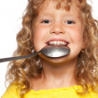 Child with spoon — Stock Photo #6282982