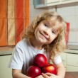 Girl with apples — Stock Photo #6586014