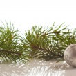 Christmas fir with decoration — Stock Photo