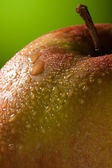 Wet Apple with water drops — Stock Photo
