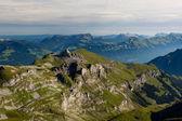 Vista desde la montaña schilthorn — Foto de Stock