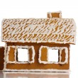 Gingerbread house on white - Stock Photo