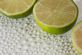 Lime with water drops — Stock Photo