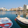 View of Agios Nikolaos. Crete, Greece - Stock Photo