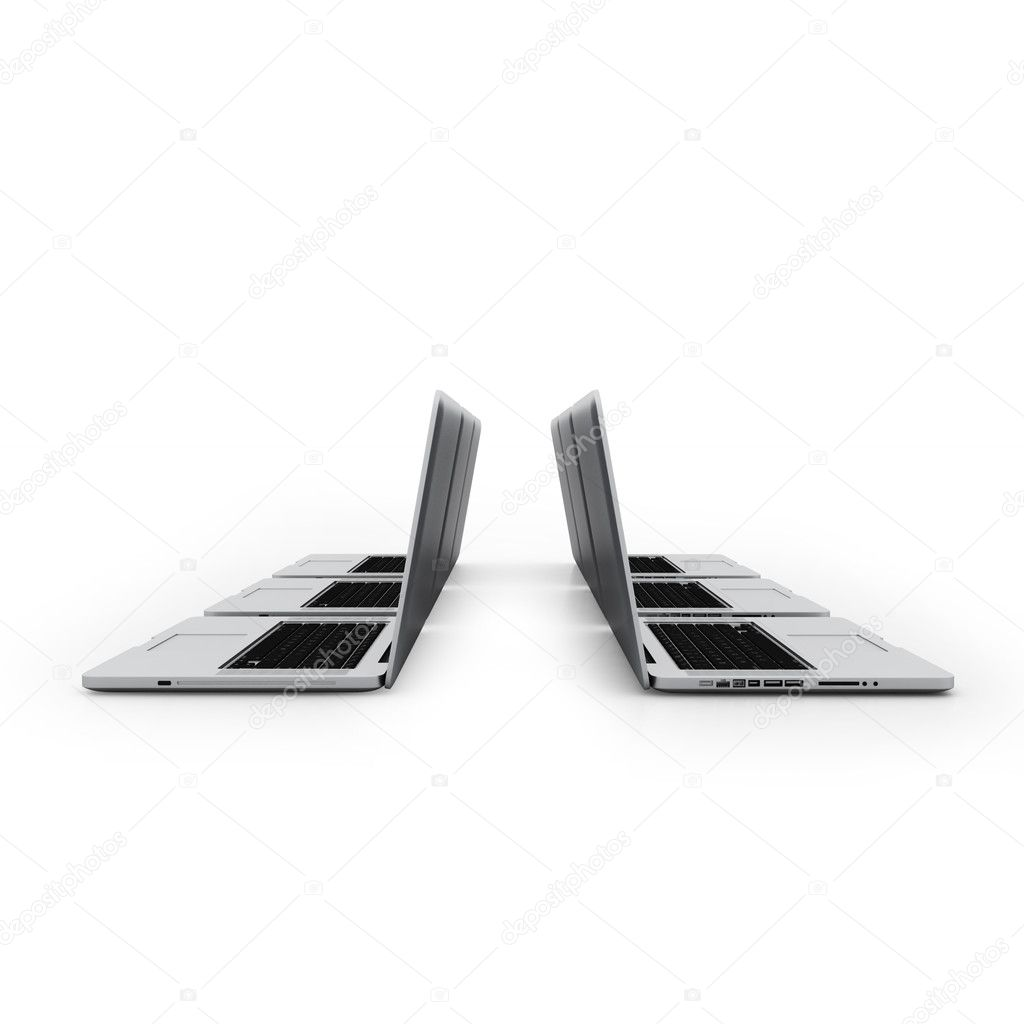 Business Computers Technology on a White Background  — Stock Photo #6045552