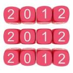 New Year 2012 on white background — Stock Photo