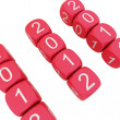 New Year 2012 on white background — Stock Photo #6079555