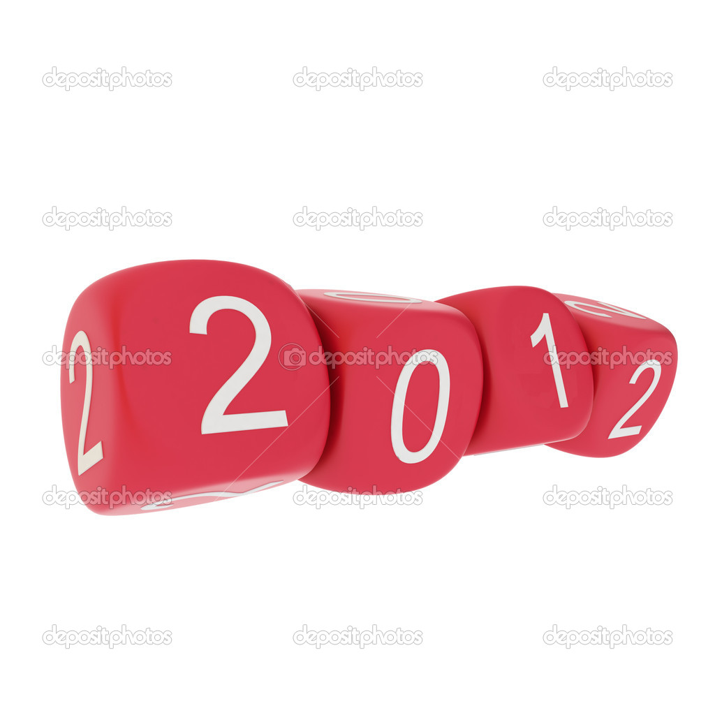 New Year 2012 on white background  — Stock Photo #6079561