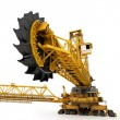 Stock Photo: Bucket wheel excavator isolated on white