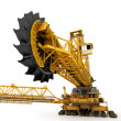 Bucket wheel excavator isolated on white — Stock Photo